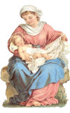 Virgin Mary and Baby Jesus German Christmas Card