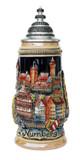 Nuernberg Panorama Souvenir Beer Stein