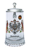 Deutschland Crest Glass Beer Stein