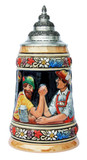 Bavarian Arm Wrestler Beer Stein