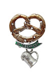 Oktoberfest Pretzel with Beer Mug German Hat Pin