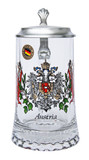 Austria Crest Glass Beer Stein