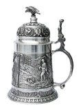 Marksman Hunter Pewter Beer Stein
