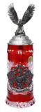 Lord of Crystal German Eagle Beer Stein Red