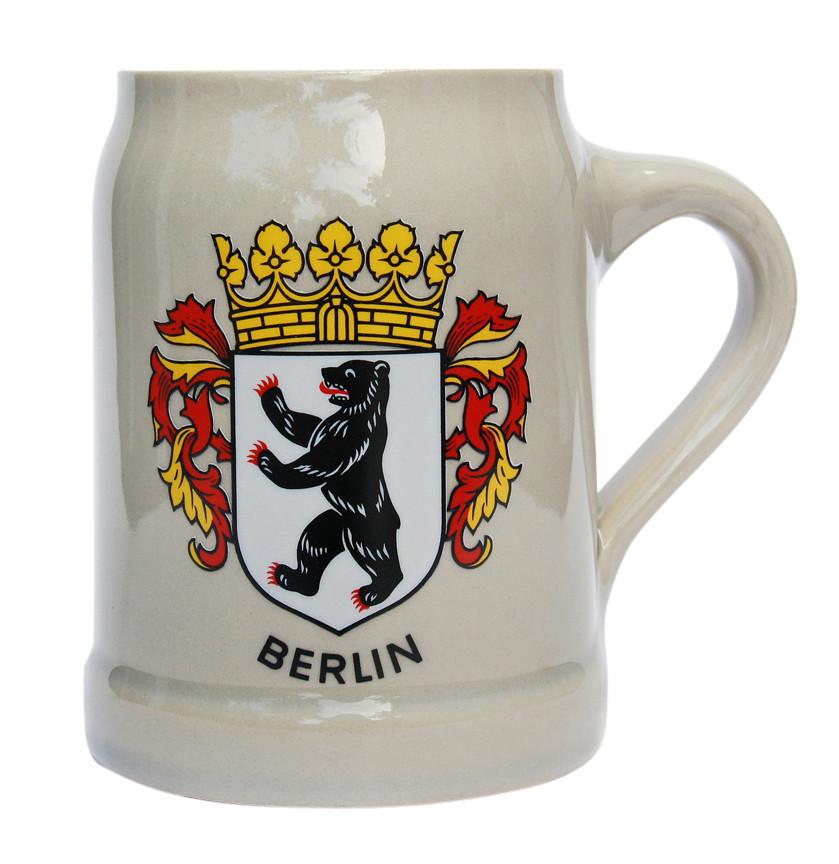 berlin german stoneware beer mug 0 5 liter. Black Bedroom Furniture Sets. Home Design Ideas