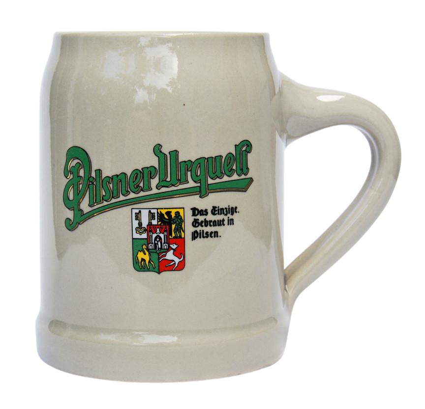 pilsner urquell german stoneware beer mug 0 5 liter. Black Bedroom Furniture Sets. Home Design Ideas