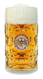 Deutschland and State Crests Dimpled Oktoberfest Glass Beer Mug 1 Liter