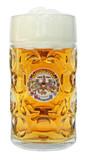 Deutschland Dimpled Oktoberfest Glass Beer Mug 1 Liter