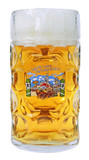 Glass Oktoberfest Beer Mug 1 Liter