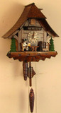 Bavarian Beer Drinker Chalet German Cuckoo Clock