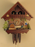 Fisherman German Cuckoo Clock