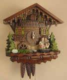 Kissing Couple Chalet German Cuckoo Clock