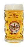 Deutschland Dimpled Oktoberfest Glass Beer Mug 0.5 Liter