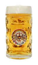 0.5 Liter Dimpled Glass Beer Mug with Personalized Engraving Option