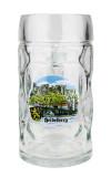 Heidelberg Dimpled Oktoberfest Glass Beer Mug 0.5 Liter