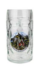 Authentic .5 liter German Mass Krug with Neuschwanstein Decoration