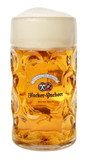 Hacker Pschorr Dimpled Oktoberfest Glass Beer Mug 1 Liter