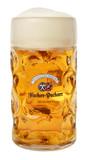 Hacker Pschorr Dimpled Oktoberfest Glass Beer Mug 1 Liter