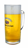 Authentic Hacker Pschorr .5 Liter Glass Beer Mug
