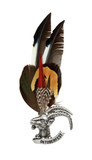 Alpine Goat German Feather Hat Pin