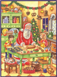 Baking Santa German Christmas Advent Calendar