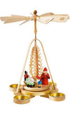 Santa with Toys German Wooden Pyramid