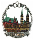 Bremen German Pewter Christmas Tree Ornament
