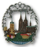 Unique Handmade Pewter German Christmas Ornament