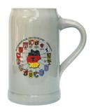 Deutschland Map Rastal Stoneware Beer Mug 1 Liter
