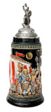 Leif Erikssen Viking Beer Stein with Viking Lid