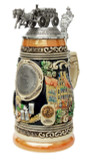 1 liter ceramic beer stein with handle