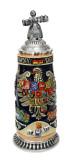 Deutschland Legacy Beer Stein with Beer Maiden Lid