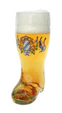 Bavaria Crest Glass Beer Boot 0.5 Liter