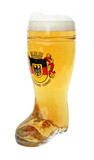Deutschland Crest Glass Beer Boot 0.5 Liter