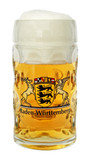 Baden Wuerttemberg Dimpled Oktoberfest Glass Beer Mug 0.5 Liter