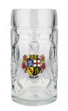 Saarland Dimpled Oktoberfest Glass Beer Mug 0.5 Liter