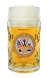 US Army Dimpled Oktoberfest Glass Beer Mug 0.5 Liter