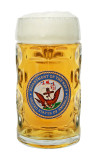 US Navy Dimpled Oktoberfest Glass Beer Mug 0.5 Liter