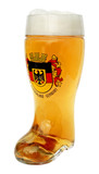 Deutschland Crest Glass Beer Boot 1 Liter