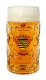 Sachsen Dimpled Oktoberfest Glass Beer Mug 1 Liter