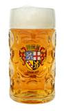 Saarland Dimpled Oktoberfest Glass Beer Mug 1 Liter