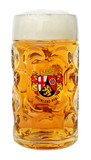 Rheinland Pfalz Dimpled Oktoberfest Glass Beer Mug 1 Liter
