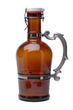 Two Liter Glass Beer Growler with Fancy Aluminum Handle Made in Germany