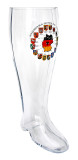 Deutschland Map Glass Beer Boot 2 Liter
