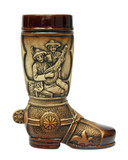 German Ceramic Beer Boot 0.5 Liter Rustic