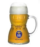Dirndl Hofbrauhaus HB Glass Beer Mug 0.5 Liter