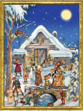 Victorian Christmas Barn German Advent Calendar