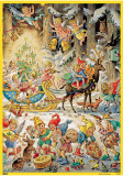 Elves and Angels Christmas Festival German Advent Calendar
