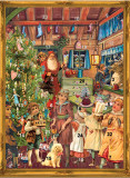 Victorian Santas Workshop German Advent Calendar Christmas Card