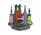 Munich Bavaria Skyline German Pewter Pin